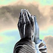 Solar Praying Hands Poster