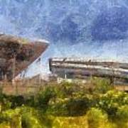Soldier Field West Side Photo Art 02 Poster