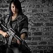 Soldier Girl Poster by Jim Boardman
