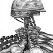 Soldiers Cross Remember The Fallen Poster by J Ferwerda