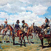 Soldiers On Horseback Poster