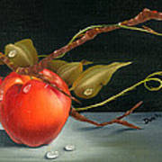 Solitary Apples Poster