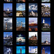 Some East Coast Lighthouses Poster