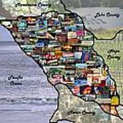 Sonoma County Collage Poster
