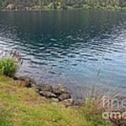 Soothing Lake Crescent Poster