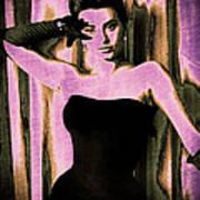 Sophia Loren - Purple Pop Art Poster by Absinthe Art By Michelle LeAnn Scott