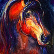 Soulful Horse Painting Poster by Svetlana Novikova