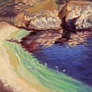 Soulful Sanctuary Point Lobos Poster by Karin  Leonard