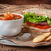 Soup And Sandwich Poster