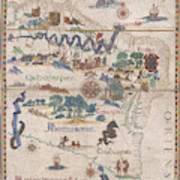 South America With Settlements Poster