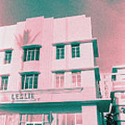 South Beach Miami Leslie Tropical Art Deco Hotel Poster
