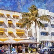 South Beach Miami Art Deco Buildings Poster