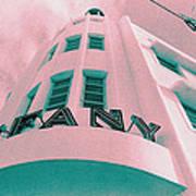 South Beach Miami Tiffany Hotel Tropical Art Deco Poster