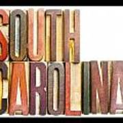 South Carolina Antique Letterpress Printing Blocks Poster