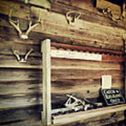 South Carolina Hunting Cabin Poster