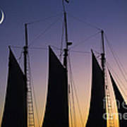 South Carolina Schooner Sunset Poster
