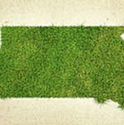 South Dakota Grass Map Poster by Aged Pixel