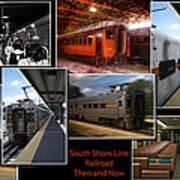 South Shore Line Railroad Collage Poster