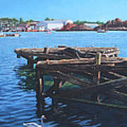 Southampton Northam River Itchen Old Jetty With Sea Birds Poster