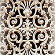 Southern Ironwork In Sepia Poster