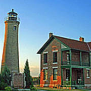 Southport Lighthouse On Simmons Island Poster