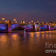 Southwark Bridge Poster by Pete Reynolds