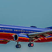 Southwest 737 Landing Poster