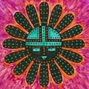 Southwest Sunburst Sunface Poster