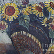 Southwest Sunflowers Poster