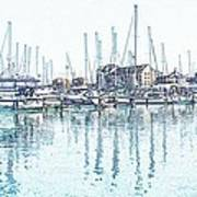 Soveriegn Harbor In Pencil Poster