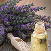 Spa With Lavender Oil And Bath Salt Poster