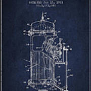 Space Capsule Patent From 1963 Poster by Aged Pixel