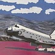 Space Shuttle Landing In The Desert Poster