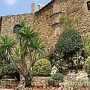 Spanish Church Garden Poster