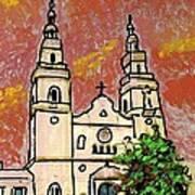 Spanish Church Poster