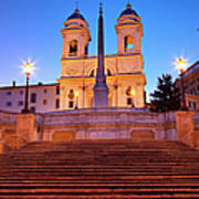 Spanish Steps Dawn Poster