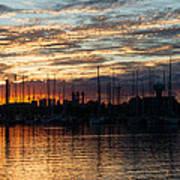 Spectacular Sky - Toronto Beaches Marina Poster