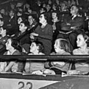 Spectators At The Circus Poster