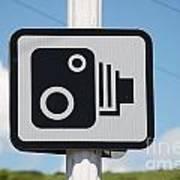 Speed Camera Sign Folkestone Poster