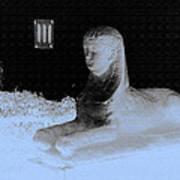 Sphinx Statue Three Quarter Profile Blue Glow Usa Poster
