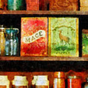 Spices On Shelf Poster by Susan Savad