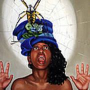 Spider Hat Poster by Shelley Laffal