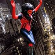 Spider Gal Leaping Poster