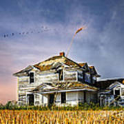 Deep Autumn In Saskatchewan Poster