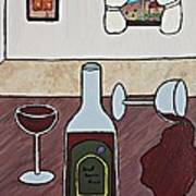 Essence Of Home - Spilt Glass Of Wine Poster