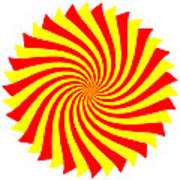 Spin Right On White Poster
