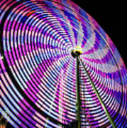 Spinning Disk Poster by Joan Carroll