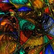 Spiral Stained Glass Poster