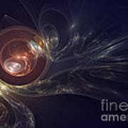 Spirals In Space Poster