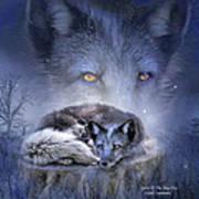 Spirit Of The Blue Fox Poster